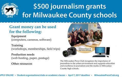 Milwaukee Press Club offers grants to Milwaukee County high school media